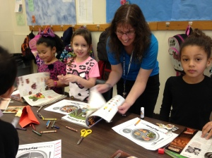 "Franklin Borough Elementary After School Care creating ""MyPlate"""