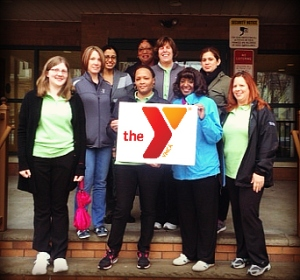 The Gateway Family YMCA Association Office Staff join in on the fun!