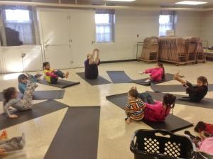 Yoga fun with Ms Diana