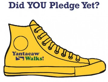 Yantacaw Walks Golden Sneaker Pledge Poster