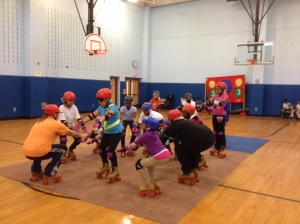 Bradley School 4th graders learn to roller skate