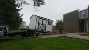 Garden shed arrives!