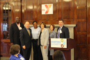 Shaping Elizabeth Forum Speakers: Darrin Anderson, NJ Partnership for Healthy Kids Mayor Bollwag, City of Elizabeth Krystal R. Canady, The Gateway Family YMCA, CEO Alane McCahey, TGFY, Director Community Initiatives Melynda Mileski, TGFY, EVP, COO Joseph McTernan, Trinitas RMC