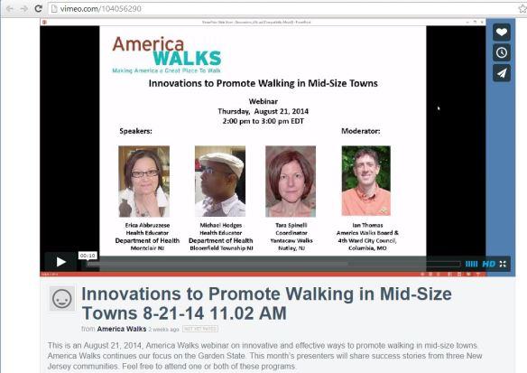 America Walks 082114 Webinar on Vimeo