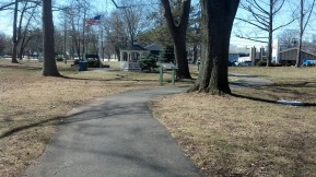 View of walking Path on North Park Drive, Woodbridge