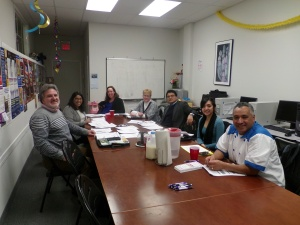 At our last Shaping Dover meeting, from left to right, Carlos Caprioli, Program Manager of the Morris County Family Success Center; Nisha Mehta, Coordinator for Healthy Communities, Atlantic Health System; Michelle Blanchfield, Director of Special Populations of Zufall Health Center; Susan O'Donnell, Executive Director of Head Start Program of Morris County; Miguel Leon, Director of ADP Insurance Agencies; Michelle Pimentel, Intern from William Paterson University, Public Health Department; and Wilson Vazquez, owner of Sabor Latino Restaurant and Las Costillas de Pedro Restaurant.