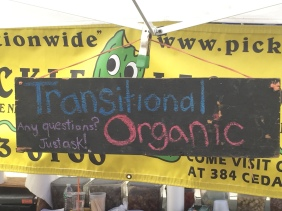farmers market organic sign