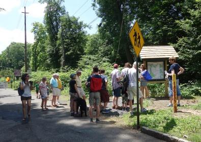 Jackie Kondel of the Reeves-Reed Arboretum leads a hike at the
