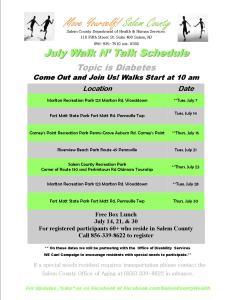 July 2015 Walk Schedule