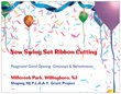Postcard for Swing Set Ribbon Cutting